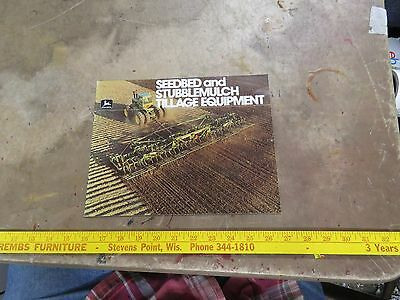 John Deere 1980 Seedbed & Stubble Mulch Tillage Equipment Brochure