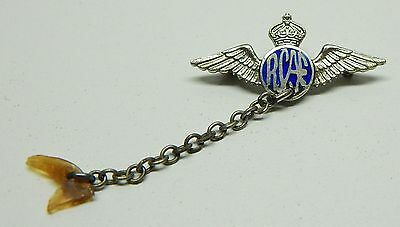 Vintage small RCAF sterling silver wings tie pin AS IS
