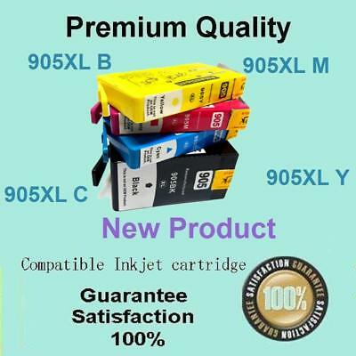 4 x 905XL 909 Ink Cartridge Compatible for HP Officejet Pro 6950 6960 6970