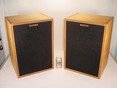 2 Vintage Klipsch Heresy HBR Birch Speakers Consecutive Numbered Matched Pair