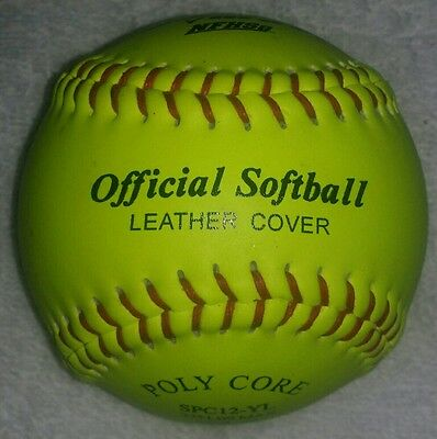 1 dozen BRAND NEW SOFTBALLS leather 12 inch FastPitch NFHS comparable to Wilson
