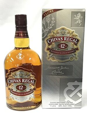 Chivas Regal 12 Years Old Blended Scotch Whisky 1L Boxed 1 Litre