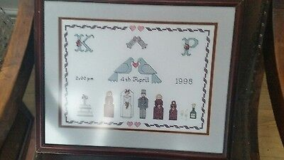 completed cross stitch picture