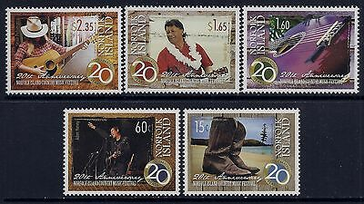 2013 NORFOLK ISLAND COUNTRY MUSIC FESTIVAL 20th ANNIVERSARY SET OF 5 MINT MNH