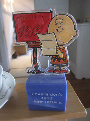 Peanuts Snoopy Charlie Brown Acrylic Figure on Box by Quantasia