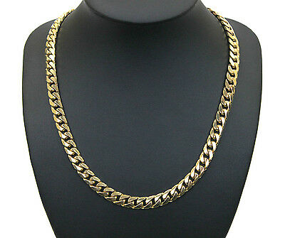 Men's 9K Solid Yellow Gold Curb Link Chain Necklace 76.8 Grams