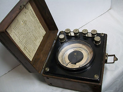 Old Westinghouse AC Ammeter--Type PM--Circa 1919