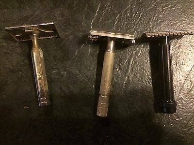 Gillette safety razor z1 1954. 2 misc safety razors. un named