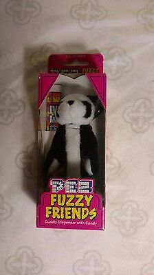Pez Fuzzy Friends Jade Bear Nib Vintage Collectible Toy W/ Candy Complete