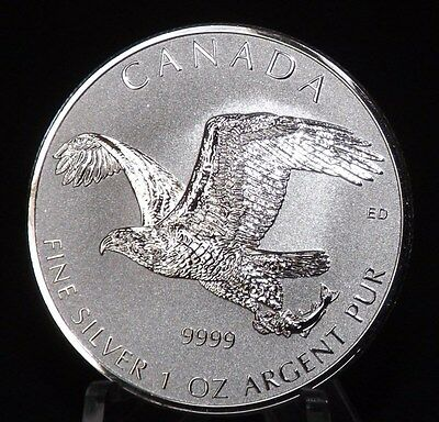 New 1 oz 2017 Bald Eagle reverse proof Canadian Silver coin 9999
