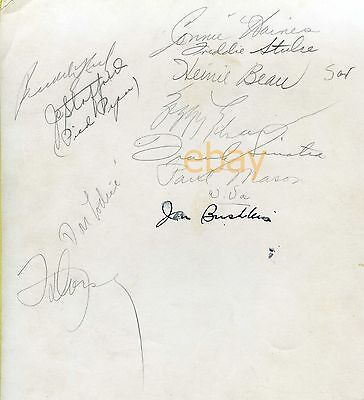 Vintage FRANK SINATRA - TOMMY DORSEY & 9 MORE SIGNED 8x10 ca 1940-42 AUTOGRAPHED