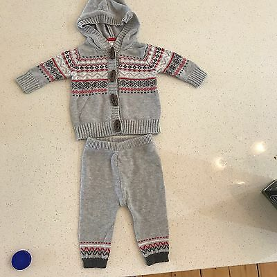 Purebaby Two Piece Boys size 000 (0-3months)
