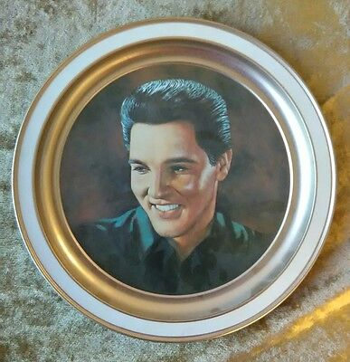 """Elvis Presley 12"""" *VERY NICE* Limited Edition Metal Serving Plate Plaque, NK18"""