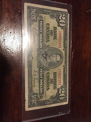 Bank Of Canada 1937 $20 Bank Note