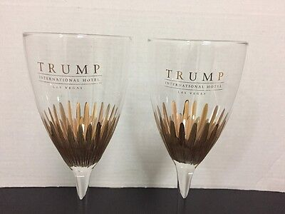 Trump Wine glasses from Trump International Hotel Las Vegas