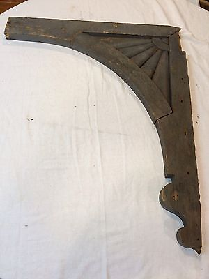 Vintage 1890's Large Wood Shabby Gray Architectural Salvage With Sunburst