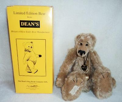 "RARE 12"" DEANS Rag Book UK Ltd Ed SAM SOCK Teddy Bear w/Tags, Bell & Box HTF"