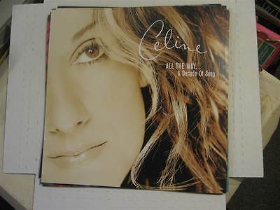 """CELINE DION All The Way... A Decade Of Song 12x12"""" Promo Poster Flat LOT OF 2"""
