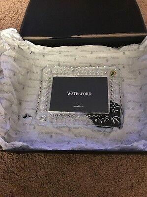 """Waterford LISMORE Crystal Picture Frame 4x6"""" #108049 New"""