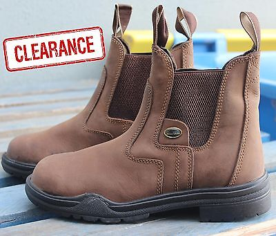 Unicorn Stable Ranch Work Pull On Boots Steel Toe Protection Mens Ladies Childs
