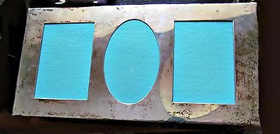 tiffany & co makers sterling silver 3 photo holder picture frame signed