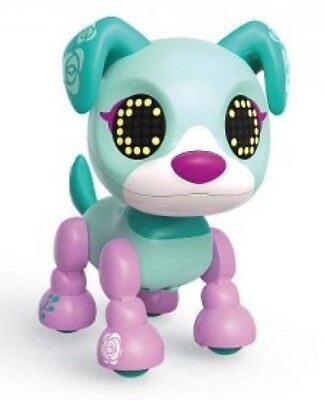 Zoomer Zupps Tiny Pups Posy Interactive Pet Green Height 9cm