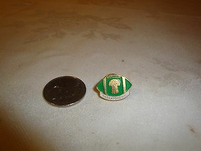 Saskatchewan Roughriders Pin Football With Wheat Sheaf In Middle