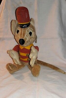 1940s VINTAGE ANTIQUE TIMOTHY MOUSE PLUSH TOY BY WALT DISNEY MUST SEE