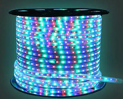 LED Rope Light 25M Roll 5050 SMD Direct Line Voltage RGB(Multi) Colour 82.5 Feet