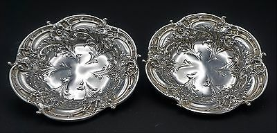 Rare Pair Of Antique Reed And Barton Sterling Silver Bowls