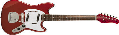 New! Jay Turser Mustang Style Vintage Series Electric Guitar - Candy Apple Red