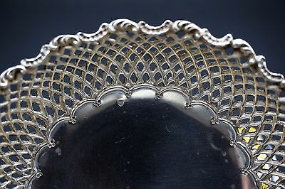 Old Continental Sterling Silver  Reticulated Feligree Hand Made Bowl