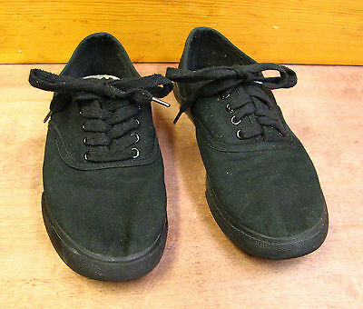 Womens Size 9 Mossimo Black Cotton Canvas Lace Up Sneakers Shoes