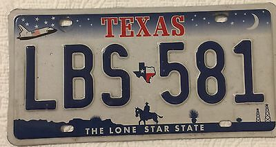 Texas License Plate The Lone Star State Space Shuttle Oil Wells Cowboy on Horse