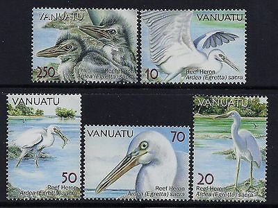 2007 Vanuatu Herons Of The Reef Set Of 5 Fine Mint Mnh/muh