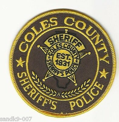 COLES County Sheriff State ILLINOIS NEW Shoulder Patch IL