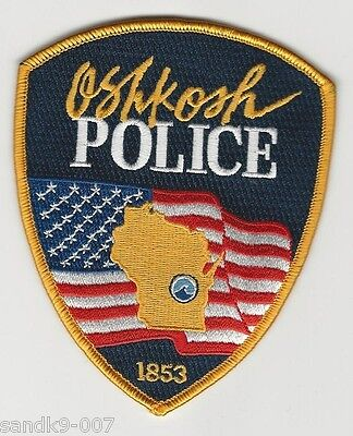 OSHKOSH Police State of WISCONSIN WI Shoulder Patch
