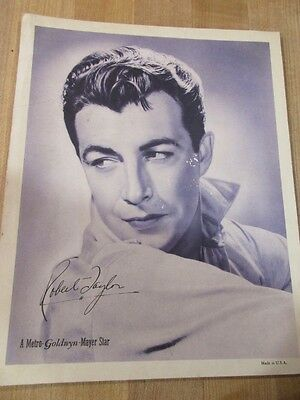MGM Robert Taylor Movie Advertising Photo The Crowd Roars Waupaca Wis Theatre >