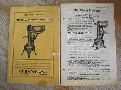 Cream Separator Imperial T Eatons Company Book