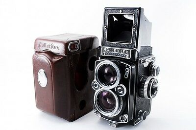 Rollei Rolleiflex 2.8 E TLR Camera w/ Leather Case From Japan 1306-000000