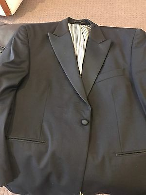 Formal Dinner Suit Anthony Squires Black XL AS NEW.