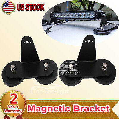 2x Super Powerful Magnetic Base Bracket For OffRoad SUV 4x4WD LED Light Bar Lamp