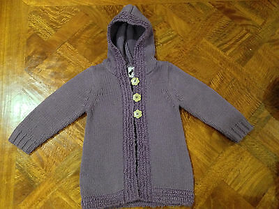 Girls Target Button Hooded Cardigan Purple Size 3