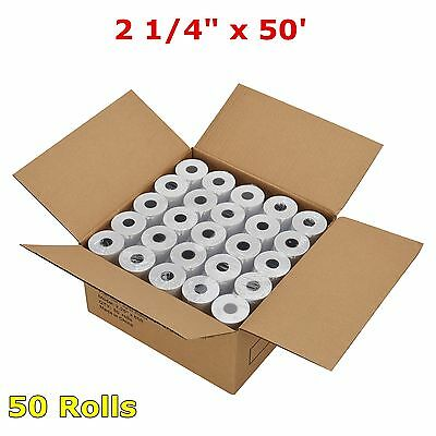 "2 1/4"" x 50' Thermal Receipt Paper POS Cash Register 50 Rolls Case Free Shipping"