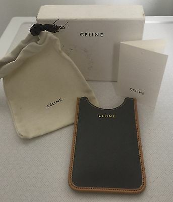 CELINE Leather Phone Case Cover Made In Italy W/ Box Auth Card & Dust bag