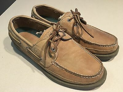 """SPERRY Top-Sider Men's """"Mako Collection"""" Light Brown Leather Boat Shoes Size 12M"""