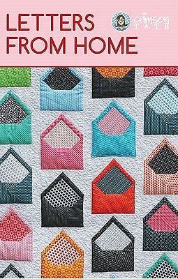 LETTERS FROM HOME QUILT QUILTING PATTERN, From Crimson Tate, *NEW*