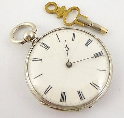 Late 1800s Antique Fine Slim Pocket Watch with Key Wound Movement LAYBY AVAI