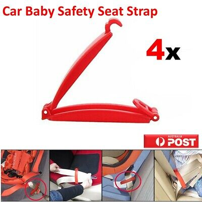 4PC Car Baby Seat Safety Strap Belt Harness Buckle Chest Clip Child Safe Lock