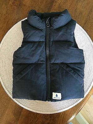 Country Road Baby Vest, Navy Blue, Size 0